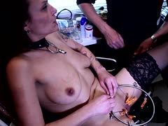 Masochistic slave experiences a great orgasm