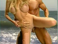 Passionate fucking on the beach