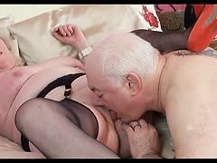 Granny fucks grandpa with strap-on