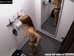 Hidden camera in the changing room