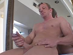Mike Hawk rubs his hard cock