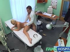 Doctor satisfies his female patient