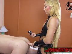 Young dominatrix gets her first slave