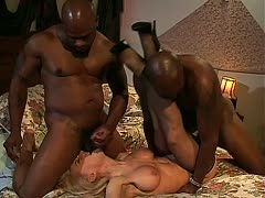 Two black boners for the milf