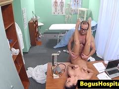 Filthy babe is banged by the doctor