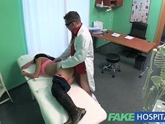 Fake doctor bangs a patient in high boots