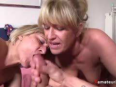 German milfs have threesome sex