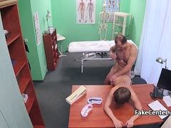 This doctor fucks his patient hard during the examination