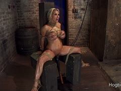 Rough bondage sex at the dungeon