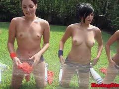 Lesbische Pornos in der Dusche