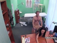 Horny Czech woman visits the cum doctor
