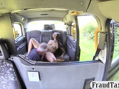 Squirting Ebony pees in the cab and is ficked by the driver
