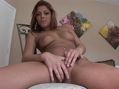 Hot Latina fingers herself in front of the camera
