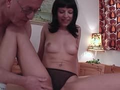 German grandpa fucks a gal