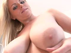 Young Englishwoman with big boobs