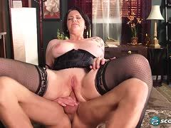 Tattooed milf is fucked hard